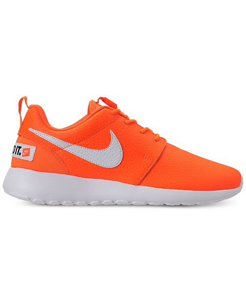 finest selection 95eb4 51d22 ... Nike Women s Roshe One Premium Just Do It Casual Sneakers from Finish  Line ...
