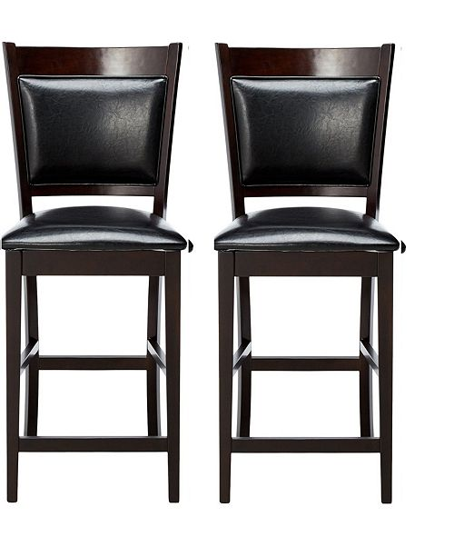 Fantastic Bellerose Contemporary Counter Height Chair Set Of 2 Gamerscity Chair Design For Home Gamerscityorg