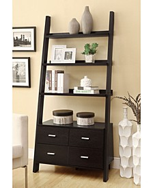 Wingate Contemporary Leaning Bookcase, Quick Ship