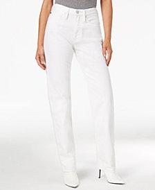 Calvin Klein Jeans High-Rise Straight-Leg Jeans