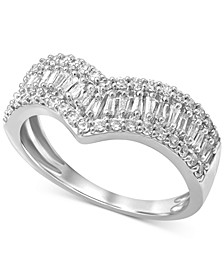 Diamond V Statement Ring (5/8 ct. t.w.) in 14k White Gold