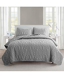 Shore 3-Piece Embossed Queen Quilt Set