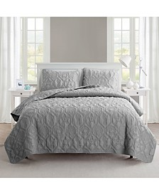 VCNY Home Shore 3-Pc. Queen Embossed Quilt Set
