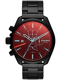 Men's Chronograph MS9 Black Stainless Steel Bracelet Watch 47mm