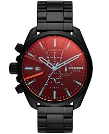 Diesel Men's Chronograph MS9 Black Stainless Steel Bracelet Watch 47mm
