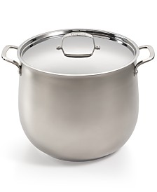 Belgique 20-Qt. Sand-Blasted Stainless Steel Stockpot, Created for Macy's