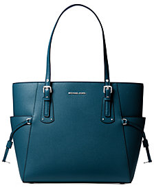 Michael Kors Voyager East West Crossgrain Leather Tote