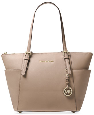 db7bdd269ee Michael Kors Jet Set Large Crossgrain Leather Tote - Handbags   Accessories  - Macy s