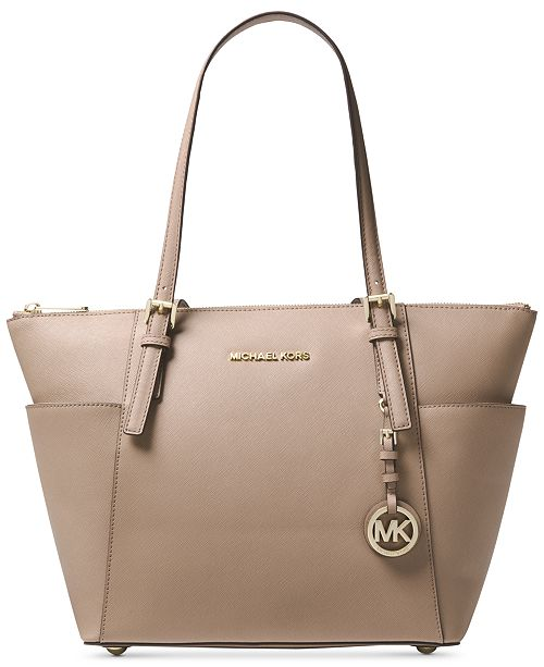 8164f9c55a Michael Kors Jet Set Large Crossgrain Leather Tote   Reviews ...