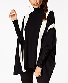 Turtleneck, Vertical Stripe and Horizontal Stripe Ponchos, Created For Macy's