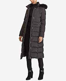 Lauren Ralph Lauren Faux-Fur Hooded Down Maxi Puffer Coat