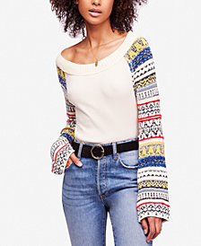 Free People Fairground Striped-Sleeve Thermal