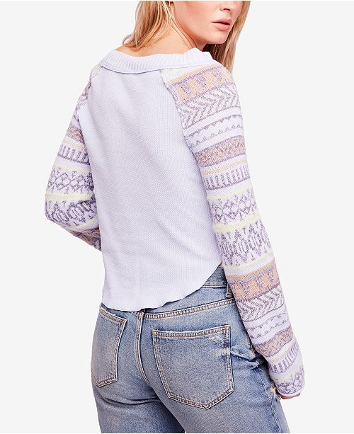 799795e6 Free People Fairground Striped-Sleeve Thermal & Reviews - Tops ...