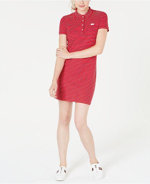 3b1e0c93e Lacoste Polo T-Shirt Dress   Reviews - Dresses - Women - Macy s