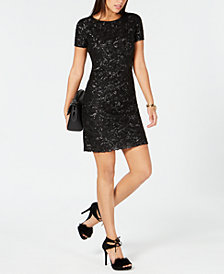 MICHAEL Michael Kors Sequined Mesh Dress
