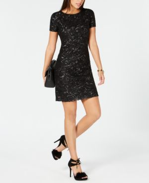 Michael Michael Kors Sequined Mesh Dress 6762585
