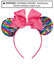 On the Verge Little & Big Girls Minnie Mouse Reversible-Sequin Headband