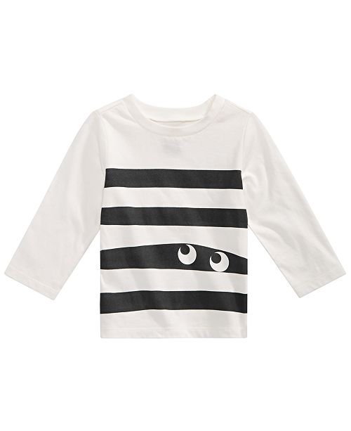 First Impressions Toddler Boys Cotton Monster Stripe T-Shirt, Created for Macy's