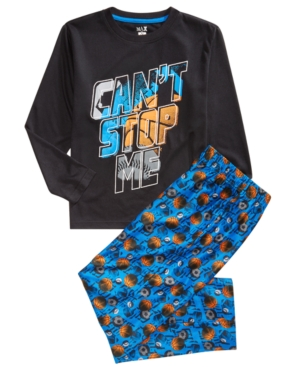 Max  Olivia Little  Big Boys 2Pc Cant Stop Pajama Set