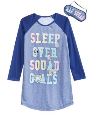 Max  Olivia Little  Big Girls Sleepover Goals Graphic Nightgown  Eye Shade