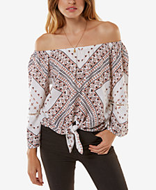 O'Neill Juniors' Off-The-Shoulder Mixin Top