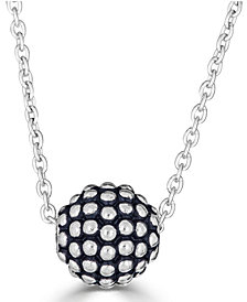"Caviar Ball 18"" Pendant Necklace in Sterling Silver"