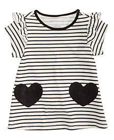 First Impressions Toddler Girls Striped Hearts Cotton Tunic, Created for Macy's