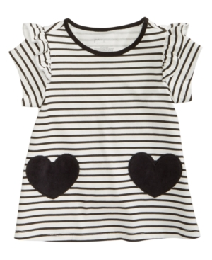 First Impressions Baby Girls Striped Hearts Cotton Tunic Created for Macys