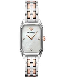 Women's Two-Tone Stainless Steel Bracelet Watch 24x36mm