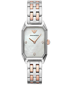 Emporio Armani Women's Two-Tone Stainless Steel Bracelet Watch 24x36mm