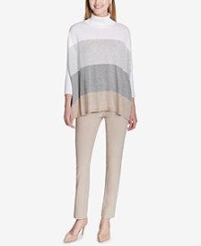 Calvin Klein Colorblocked Dolman-Sleeve Sweater
