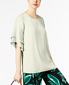 Alfani Ruffled Dolman Sleeve Blouse, Created for Macy's
