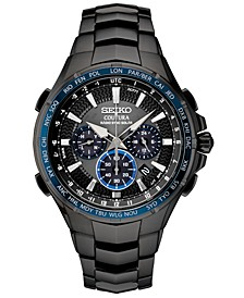Men's Radio Sync Solar Chronograph Coutura Black Stainless Steel Bracelet Watch 44.5mm
