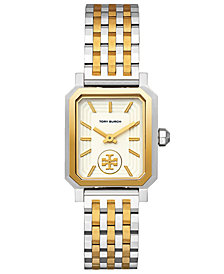 Tory Burch Women's Robinson Two-Tone Stainless Steel Bracelet Watch 27x29mm