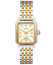 Tory Burch Women's Robinson Two-Tone Stainless Steel Bracelet Watch 27x29mm