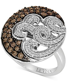 Le Vian Chocolatier® Diamond Swirl Ring (1 ct. t.w.) in 14k White Gold