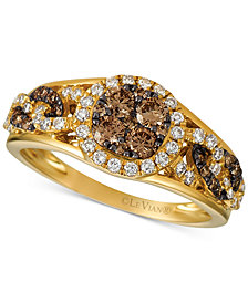 Le Vian Chocolatier® Diamond Statement Ring (3/4 ct. t.w.) in 14k Gold