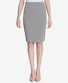 Calvin Klein Side-Stripe Pencil Skirt
