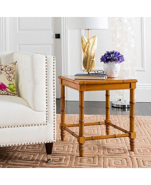 Furniture Liviah Modern Coastal Bamboo Accent Table, Quick