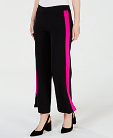 I.N.C. Petite Striped Wide-Leg Pants, Created for Macy's