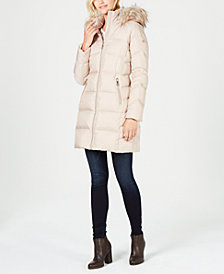Calvin Klein Faux-Fur-Trim Puffer Coat
