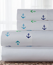 Coastal 4-Pc. Embroidered Full Sheet Set