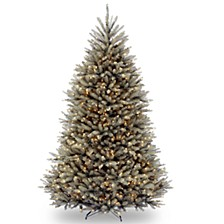 National Tree 7 .5' Dunhill® Blue Fir Hinged Tree with Clear Lights