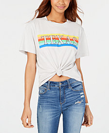 Rebellious One Juniors' Texas Cotton Graphic-Print T-Shirt