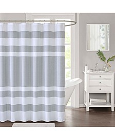 "Spa Waffle Textured Stripe 72"" x 72"" Shower Curtain, Created for Macy's"