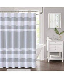 "Décor Studio Spa Waffle Textured Stripe 72"" x 72"" Shower Curtain, Created for Macy's"
