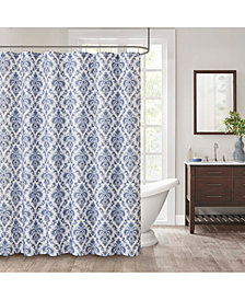 "Décor Studio Weston 72"" x 72"" Faux-Linen Shower Curtain"