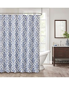 "CLOSEOUT! Décor Studio Weston 72"" x 72"" Faux-Linen Shower Curtain"