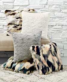 Lacourte Fur Decorative Pillow Collection, Created for Macy's