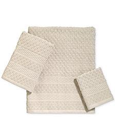 Avanti Checkerboard Cotton Terry Jacquard Bath Towel Collection